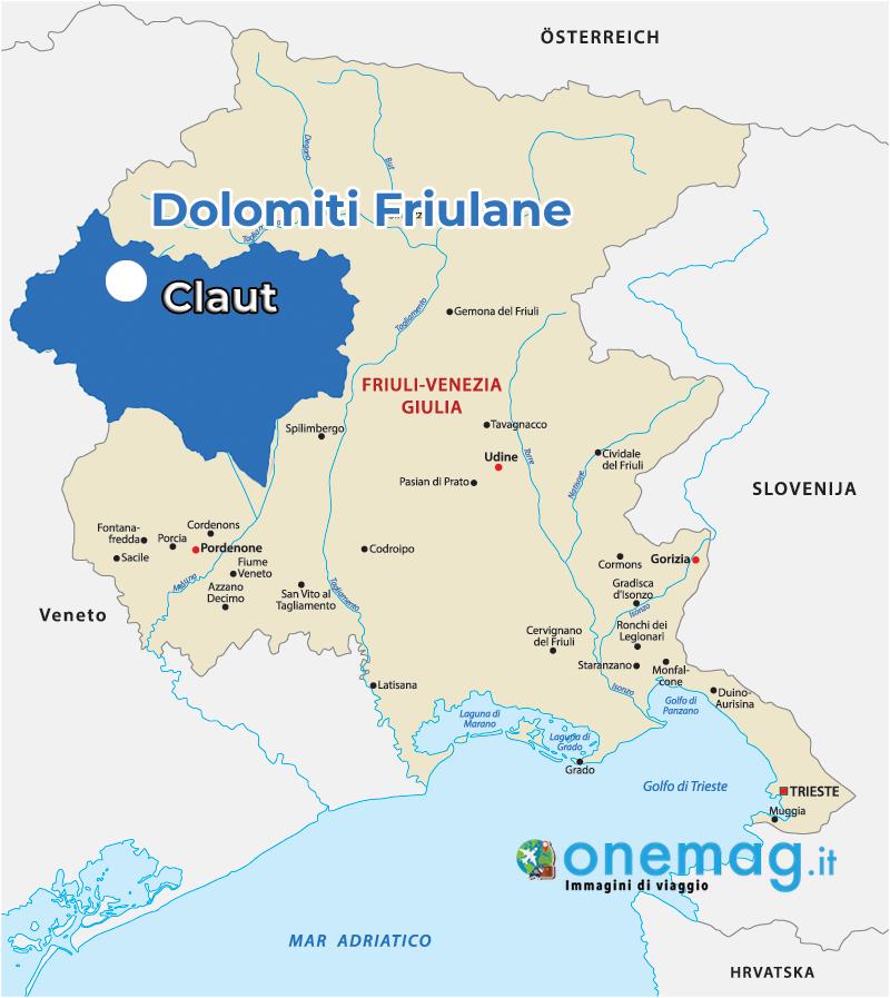 Mappa di Claut, Dolomiti Friulane