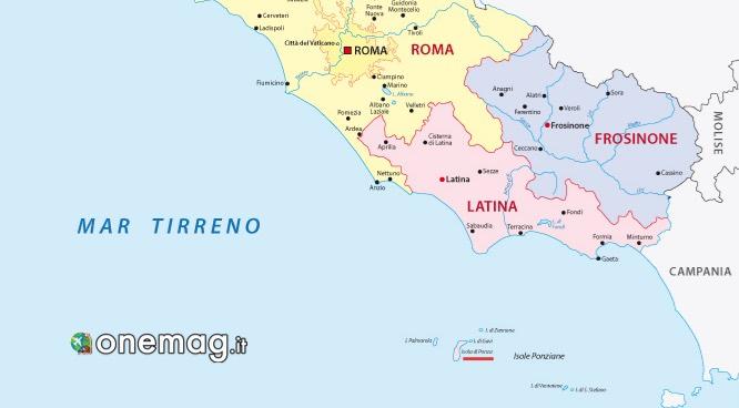 Cosa vedere a Ponza, mappa