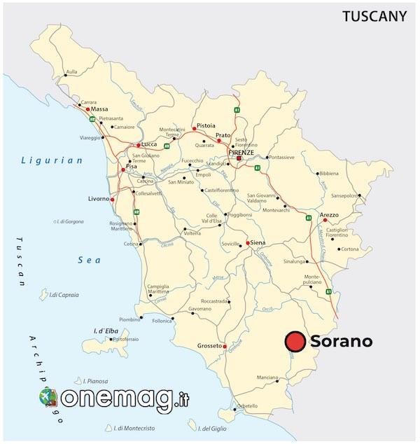 Mappa di Sorano, Maremma