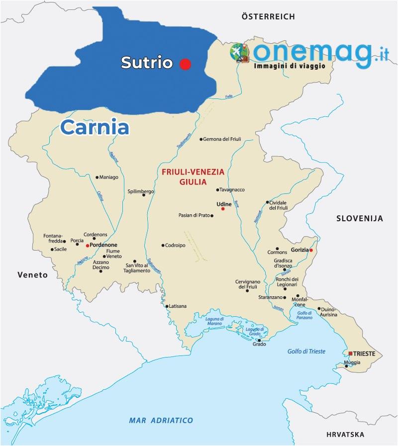 Mappa di Sutrio