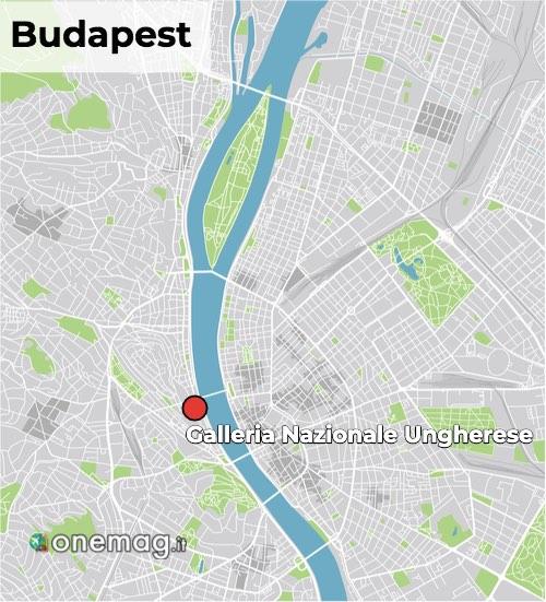 Mappa della Galleria Nazionale Ungherese