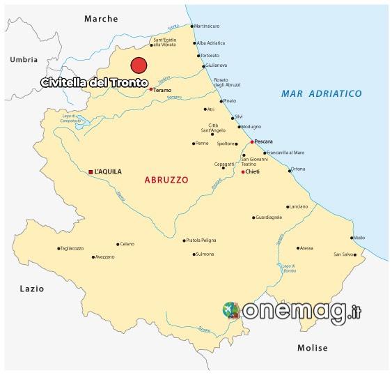 Mappa di Civitella Roveto