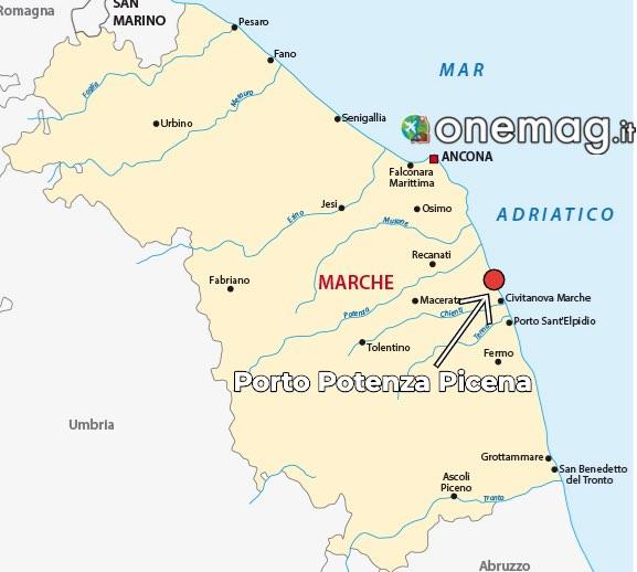 Mappa di Porto Potenza Picena