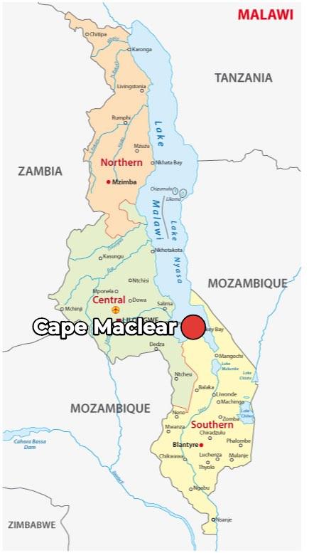Cosa vedere a Cape Maclear, Mappa