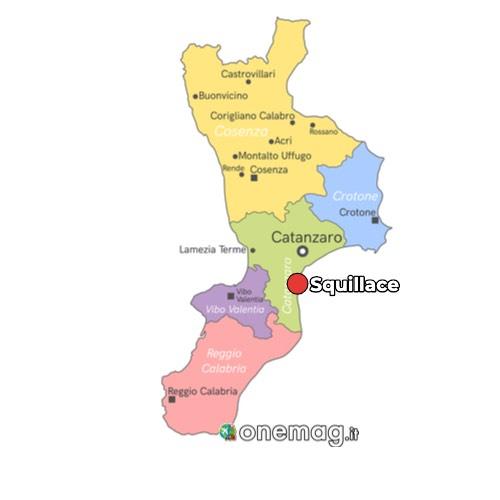 Mappa di Squillace