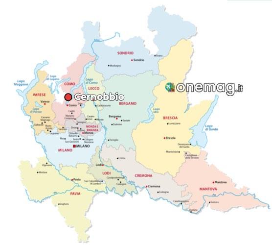 Mappa di Cernobbio