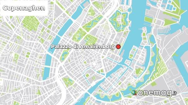 Mappa del Palazzo di Amalienborg
