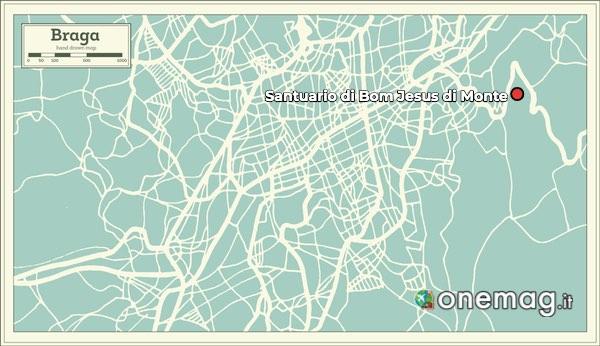 Mappa del Santuario di Bom Jesus di Monte
