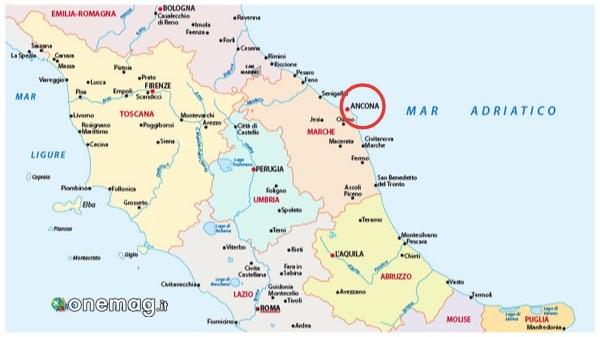 Mappa di Ancona, Marche