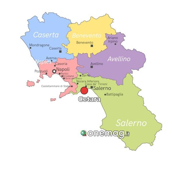 Mappa di Cetara