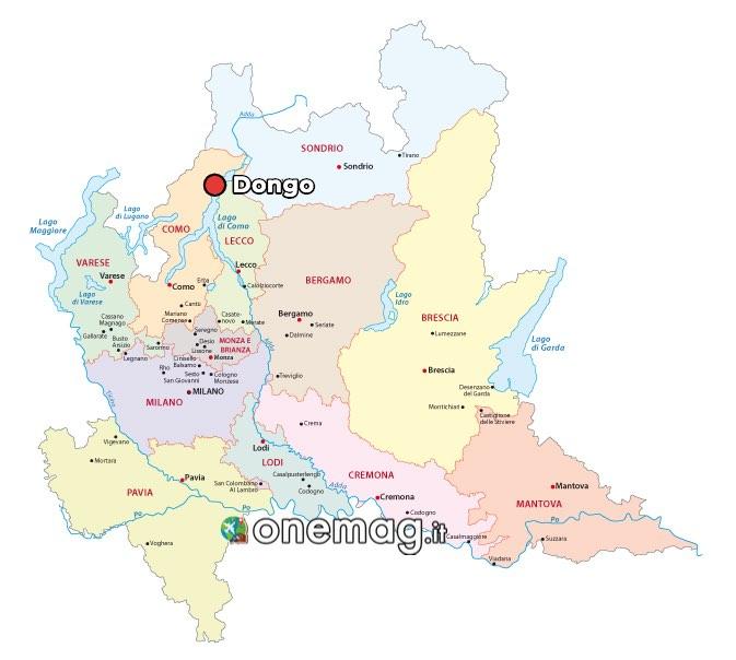 Mappa di Dongo, Como