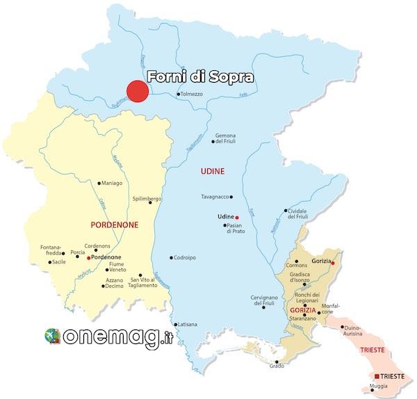 Mappa di Forni di Sopra