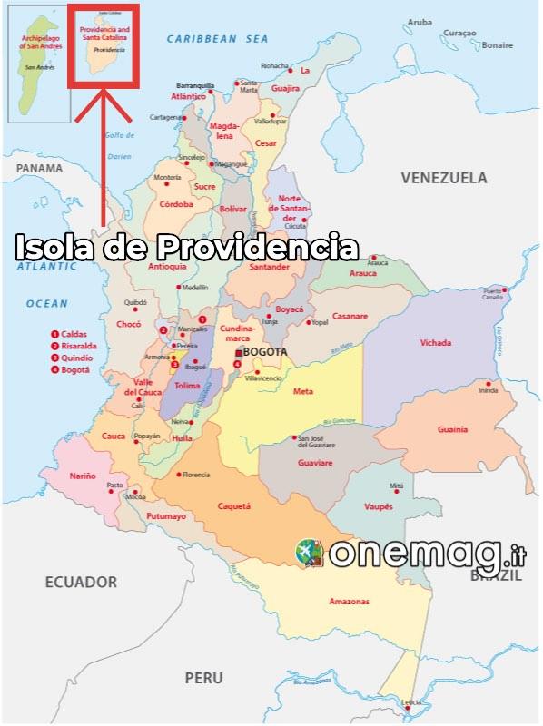 Mappa dell'Isola de Providencia
