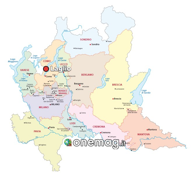 Mappa di Laglio