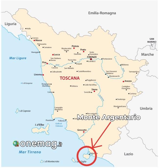 Mappa del Monte Argentario, Toscana