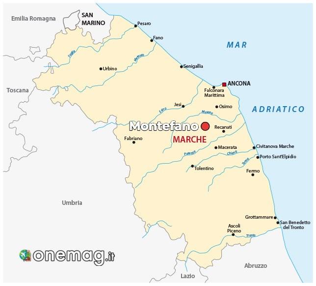 Mappa di Montefano