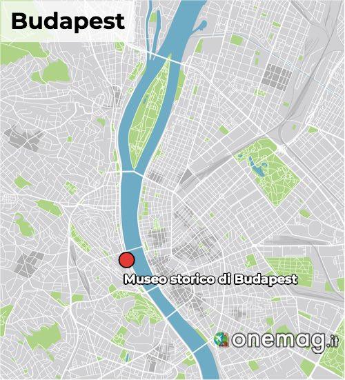 Mappa del museo storico di Budapest