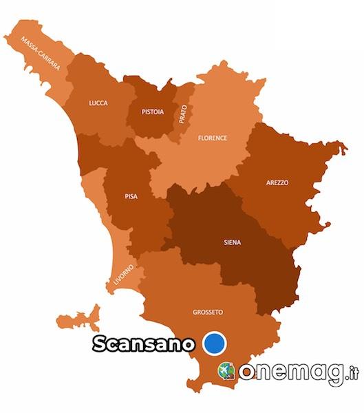 Mappa di Scansano, Toscana