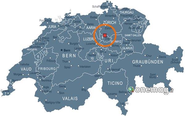 Mappa di Zugo, Svizzera