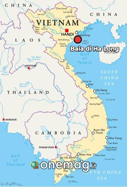 Mappa di Baia di Ha Long
