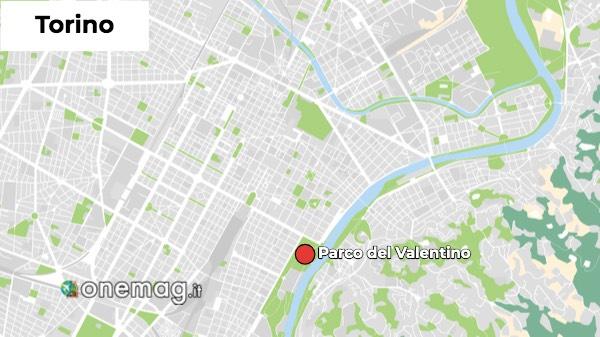 Mappa del Parco del Valentino Torino