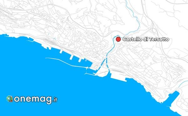 Mappa del Castello di Tersatto, Fiume