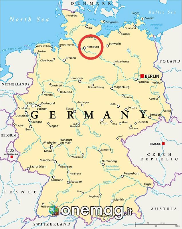 Mappa di Amburgo