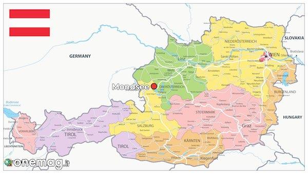 Mappa di Mondsee