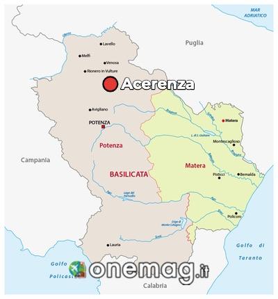 Mappa di Acerenza