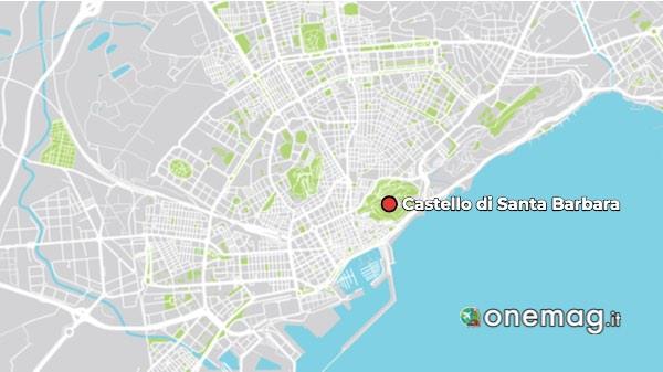 Mappa del Castello di Alicante