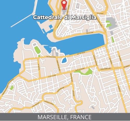 Mappa della Cattedrale di Marsiglia
