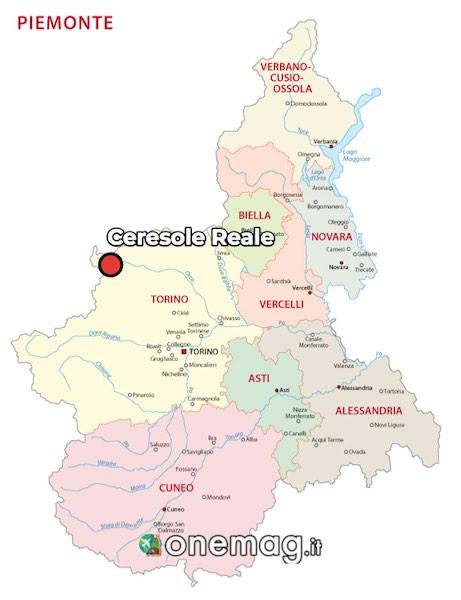 Cosa vedere a Ceresole Reale, mappa