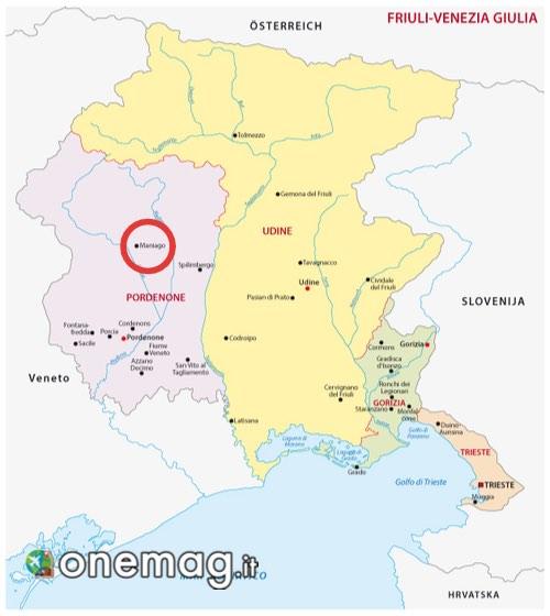 Mappa di Maniago
