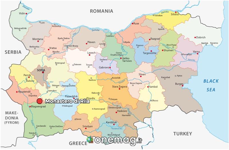 Mappa di Monastero di Rila