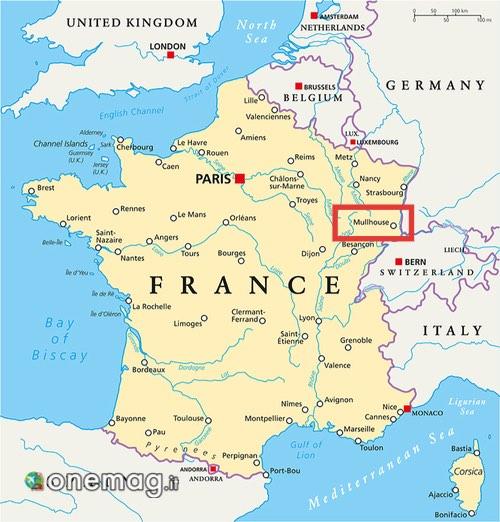 Mappa di Mulhouse, Francia