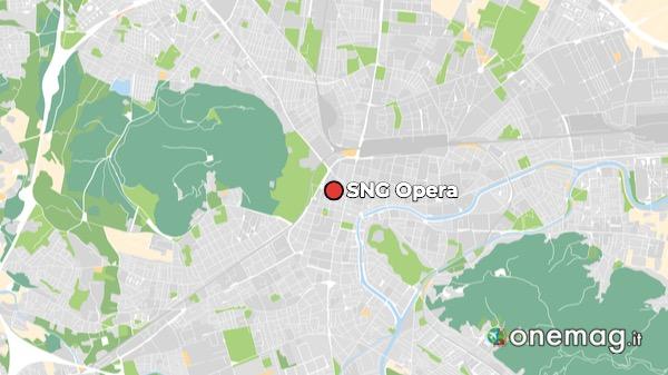 Mappa del Teatro dell'Opera di Lubiana