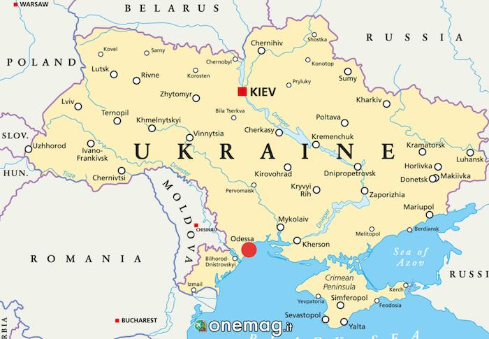 Cosa vedere a Odessa, Ucraina, mappa
