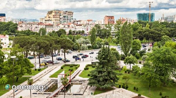 Cosa vedere in Albania, panorama su Tirana