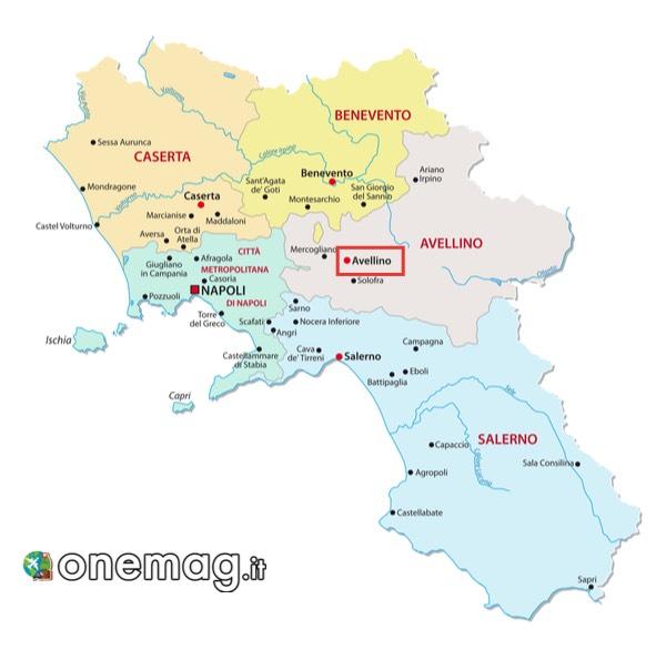 Mappa di Avellino, Campania