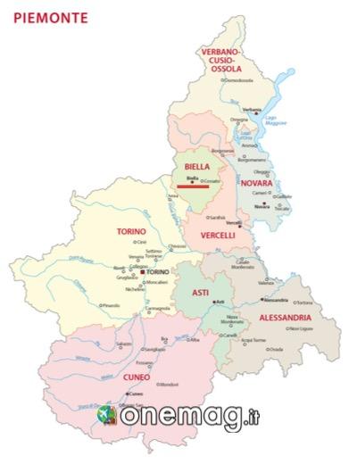 Mappa di Biella