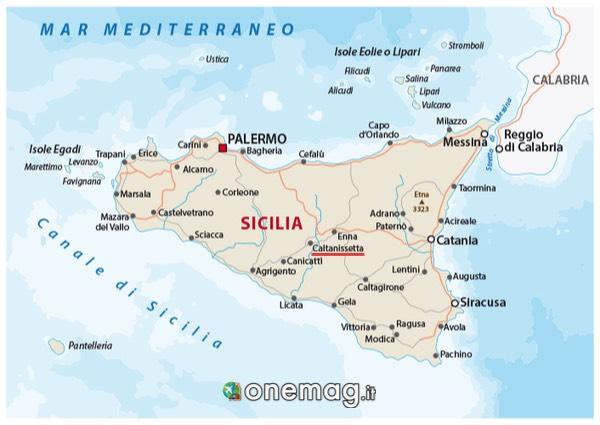 Mappa di Caltanisetta