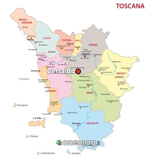 Cosa vedere a Certaldo, mappa
