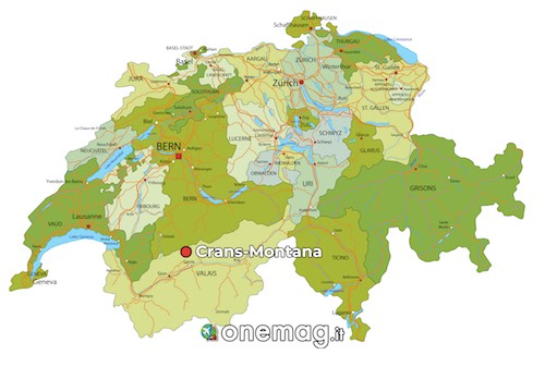 Cosa vedere a Crans-Montana, mappa