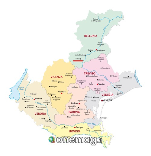 Mappa di Feltre, Belluno