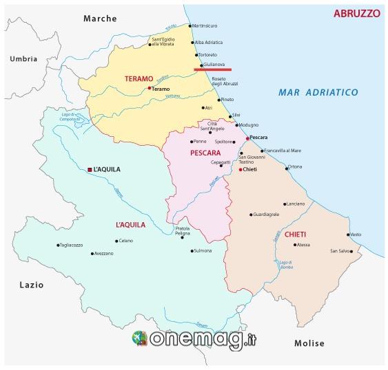 Mappa di Giulianova