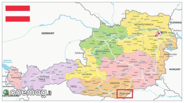 Mappa di Klagenfurt