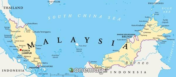 Mappa di Kuala Lumpur