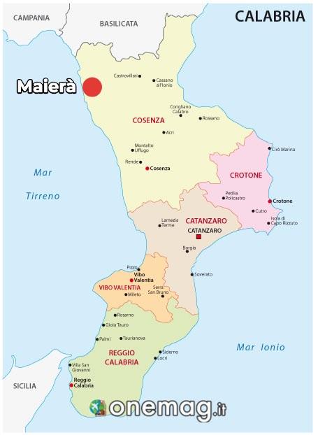 Mappa di Maierà