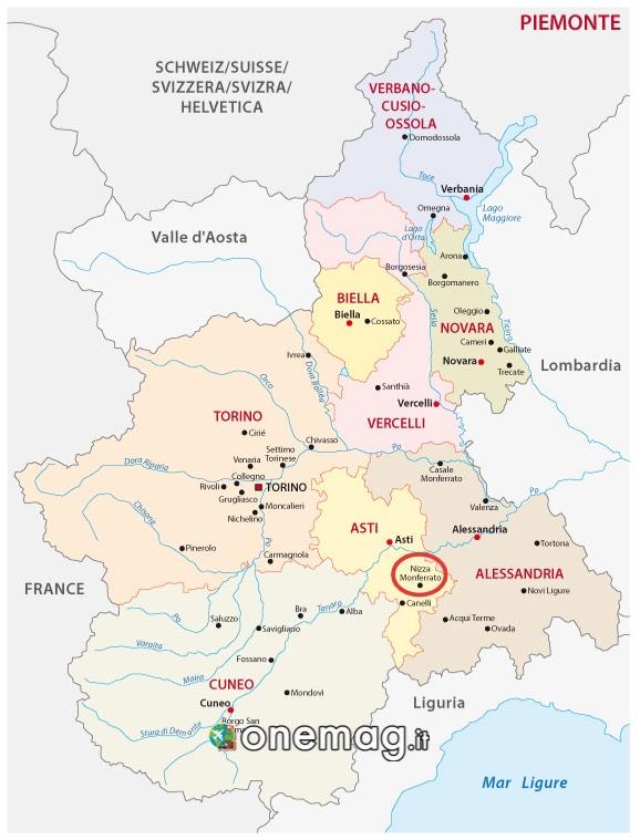 Mappa Nizza Monferrato