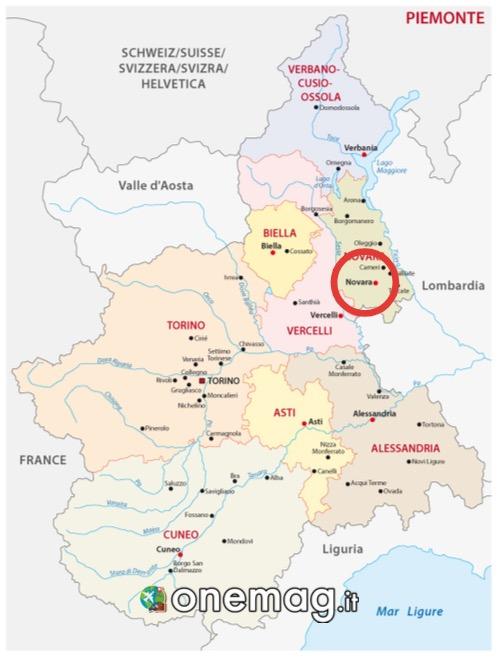 Mappa di Novara